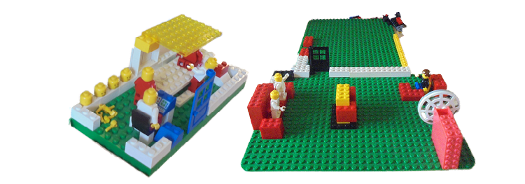 Lego creations by children and young people